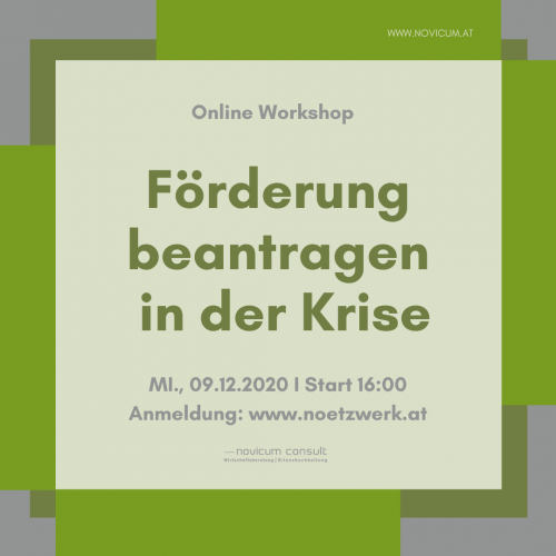 Förderung beantragen in der Coronakrise _ gratis Workshop